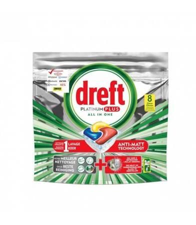 Dreft Platinum Lemon kapsułki do zmywarki 8 sztuk