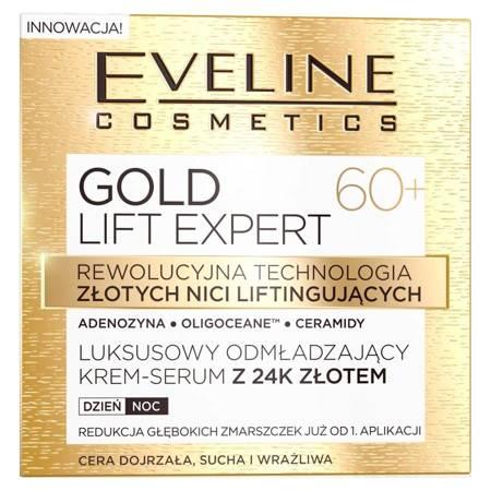 Eveline Gold Lift Expert 60+ Odmładzający krem 24k złota dzień/noc 50ml
