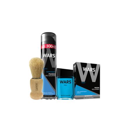 Wars Fresh Pianka do golenia+Woda kolońska+Pędzel